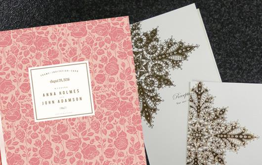 こだわりの持ち込み用紙に 印刷した結婚式メニューサンプル