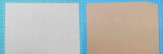 トレーシングペーパーやクラフト紙などこだわりの持ち込み用紙に 印刷サンプル